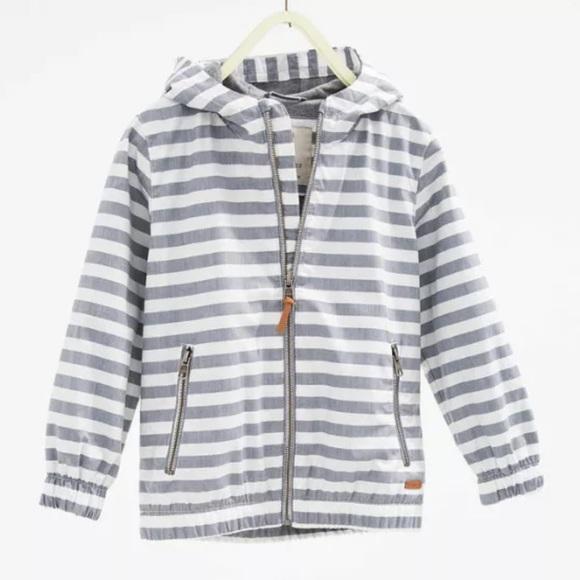 c442f4dc Zara Jackets & Coats | Boys Striped Hooded Windbreaker Jacket | Poshmark